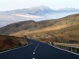 Road Near La Pared  Fuerteventura  Canary Islands  Spain  Europe