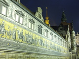 Furstenzug on the Walls of Dresden Castle  Dresden  Saxony  Germany  Europe