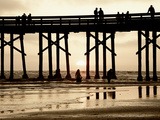Pier at Sunset  Newport Beach  Orange County  California  United States of America  North America