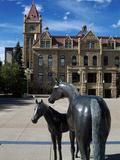 Sculpture at Calgary City Hall  Calgary  Alberta  Canada  North America