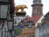 Salzstravue and Minster  Old Town  Freiburg  Baden-Wurttemberg  Germany  Europe