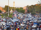 Traffic Congestion and Street Life in the City of Jaipur  Rajasthan  India  Asia