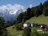 Farm Near Maria Gern and Watzmann  Berchtesgadener Land  Bavaria  Germany  Europe