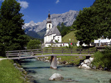 Church in Ramsau  Berchtesgadener Land  Bavaria  Germany  Europe