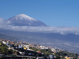 Orotava Valley and Pico Del Teide  Tenerife  Canary Islands  Spain  Europe