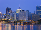 Pittsburgh Skyline and the Allegheny River  Pittsburgh  Pennsylvania  United States of America  Nor