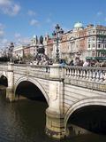 River Liffey and O'Connell Bridge  Dublin  Republic of Ireland  Europe
