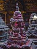 Buddha Statue at Swayambunath Temple  UNESCO World Heritage Site  Kathmandu  Nepal  Asia
