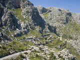 The Winding Mountain Road to Sa Calobra  Mallorca  Balearic Islands  Spain  Europe