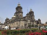 Metropolitan Cathedral  the Largest Church in Latin America  Zocalo  Plaza De La Constitucion  Mexi