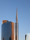 Skyscraper at Sunset  Garibaldi District  Milan  Lombardy  Italy  Europe