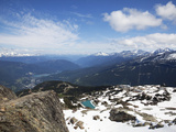 View from the Top of Whistler Mountain  Whistler  British Columbia  Canada  North America