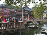 The Zigzag Bridge of Nine Turnings  Yu Yuan (Yuyuan) Bazaar  Shanghai  China  Asia