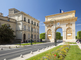 The Arc De Triomphe  Rue Foch  Montpellier  Languedoc-Roussillon  France  Europe