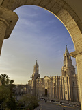 Arequipa Cathedral at Sunset on Plaza De Armas  Arequipa  UNESCO World Heritage Site  Peru  South A