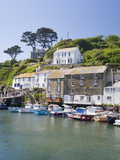 The Harbour in Polperro in Cornwall  England  United Kingdom  Europe