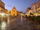 Piazza Matrice at Dusk  Trapani  Favignana Island  Sicily  Italy  Europe