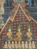 Interior Murals  Wat Pak Huak  Luang Prabang  Laos  Indochina  Southeast Asia  Asia