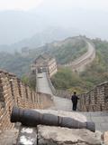 Cannon  Great Wall of China  UNESCO World Heritage Site  Mutianyu  China  Asia