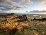 Sunset at the Roaches Including Tittesworth Reservoir  Staffordshire Moorlands  Peak District Natio