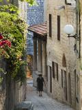 Narrow Street in Old Town  Rab Town  Rab Island  Kvarner Gulf  Croatia  Europe