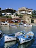 Old Town and Fishing Harbour  Nesebur (Nessebar)  Black Sea Coast  Bulgaria  Europe