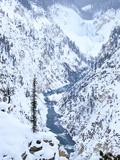 Artists Point of Grand Canyon Yellowstone in Winter  Yellowstone National Park  UNESCO World Herita