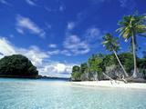 Baie de l'île Honeymoon Island, patrimoine mondial, Rock Islands, Palau Papier Photo par Stuart Westmoreland