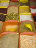 Corn and Grains Displayed in Market  Cuzco  Peru