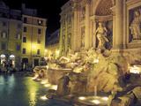 Trevi Fountain at Night  Rome  Italy