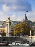 Grand Palais and Pont Alexandre Iii Bridge  Paris  France