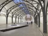 Berlin Circle by Richard Long at the Hamburger Bahnhof Museum  Berlin  Germany