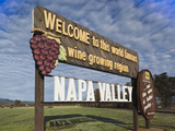 Welcome to Napa Valley Sign  Napa  Napa Valley Wine Country  Northern California  Usa