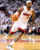 Miami  FL - June 21:  Miami Heat and Oklahoma City Thunder Game Five  LeBron James