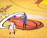 Miami  FL - June 21:  Miami Heat and Oklahoma City Thunder Game Five  Kevin Durant and LeBron James