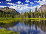 Beaver Pond in Two Medicine Valley  Glacier National Park  Montana  Usa