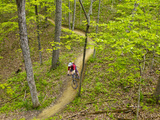 Mountain Biking at Brown County State Park in Indiana  Usa
