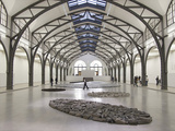 Berlin Circle by Richard Long with Ellipse of Stones  Hamburger Bahnhof Museum  Berlin  Germany