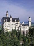 Neuschwanstein Castle  Built by King Ludwig  Fussen  Germany