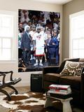 Miami  FL - June 21:  Miami Heat and Oklahoma City Thunder Game Five  LeBron James