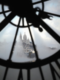 The View of Sacre Coeur Basilica from Clock in Cafe of Musee D'Orsay (Orsay Museum)  Paris  France