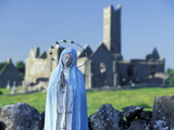 St Mary Figurine  Quinn Abbey  County Clare  Ireland