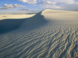 Wind-Patterned Sand Dunes in White Sands National Monument