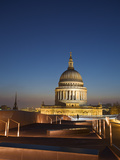 England  London  City of London  St Paul's Cathedral from One New Change Shopping Center Rooftop
