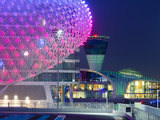 United Arab Emirates  Abu Dhabi  Yas Island  the Yas Hotel and Yas Marina Grand Prix Motor Racing C