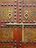 Ornate Door  Sidi Ahmed Tijani Mosque  the Medina  Fes  Morocco