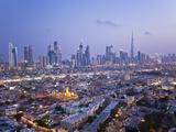 United Arab Emirates  Dubai  Skyline of Modern Skyscrapers Including the Burj Khalifa on Sheikh Zay