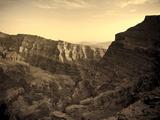Oman  Hajjar Mountain Range  Jebel Shams Mountain  Wadi Ghul  the 'Grand Canyon of Arabia'