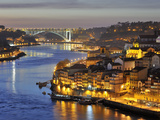 Oporto  Ribeira  UNESCO World Heritage Site at Dusk  Portugal