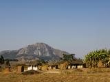 Malawi  Dedza  Grass-Roofed Houses in a Rural Village in the Dedza Region